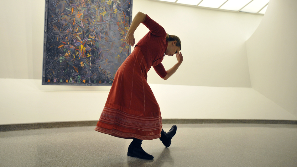 Composer, choreographer, filmmaker and vocalists Meredith Monk performs at the Solomon R. Guggenheim Museum in New York. (Corbis)