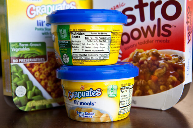 Prepacked food marketed for toddlers can contain high levels of sodium