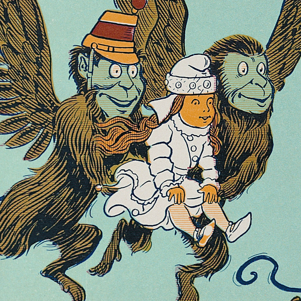 """The Monkeys caught Dorothy in their arms and flew away with her."""