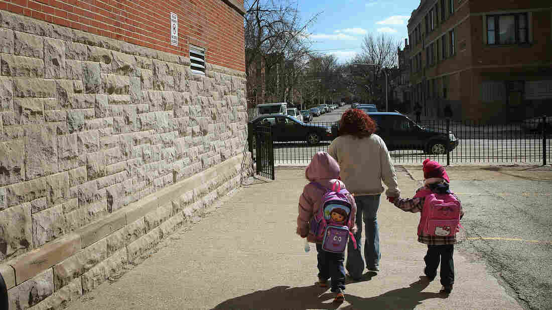 Jean De Lafayette Elementary School is one of 50 schools slated to be closed in Chicago. Cities across the country are facing similar decisions, and opposition to the closures is growing.
