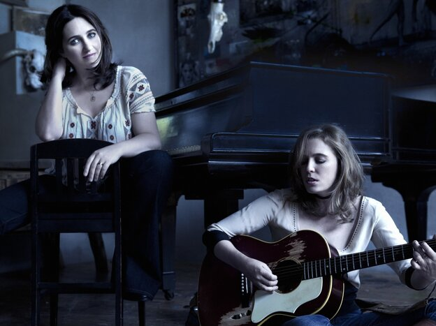 Classical pianist Simone Dinnerstein (left) and singer-songwriter Tift Merrit collaborate on the new album Night.