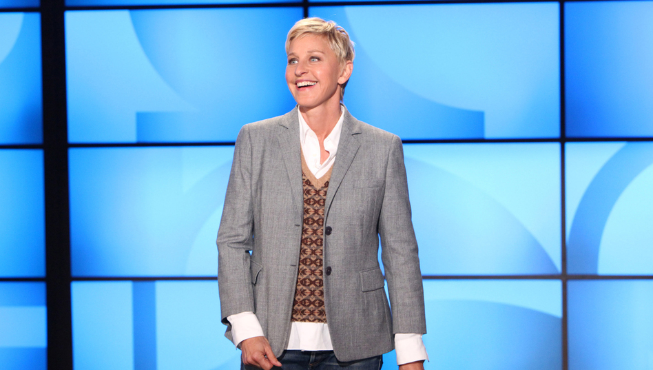 Ellen DeGeneres during a taping of <em>The Ellen DeGeneres Show</em> in 2011 in Burbank, Calif.