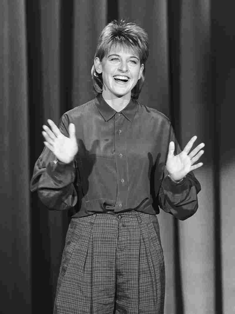 DeGeneres performs on The Tonight Show in 1987.
