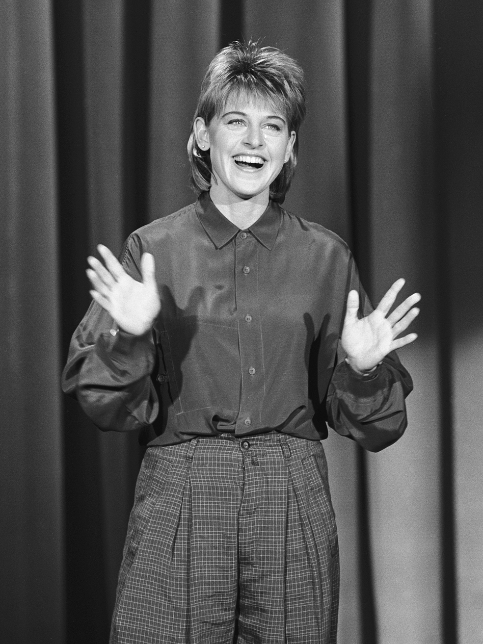 DeGeneres performs on The Tonight Show in 1987. (NBC via Getty Images)