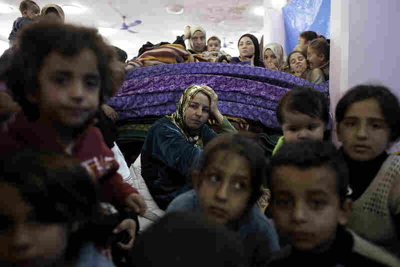 Hundreds of Syrian refugees are now living at a wedding hall in Reyhanli, Turkey.