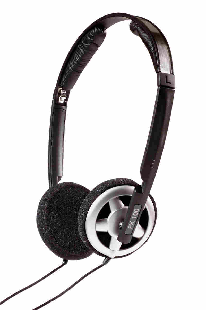 The Sennheiser PX100 headphones.