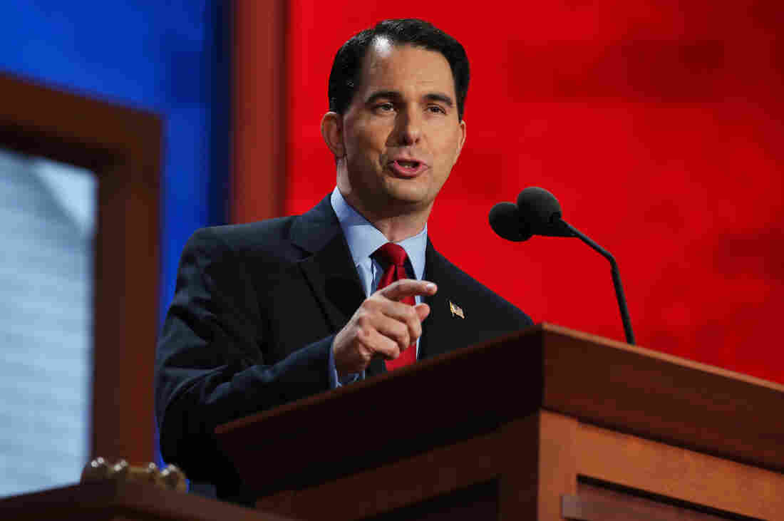 Wisconsin Gov. Scott Walker speaks during the Republican National Convention on Aug. 28, 2012.