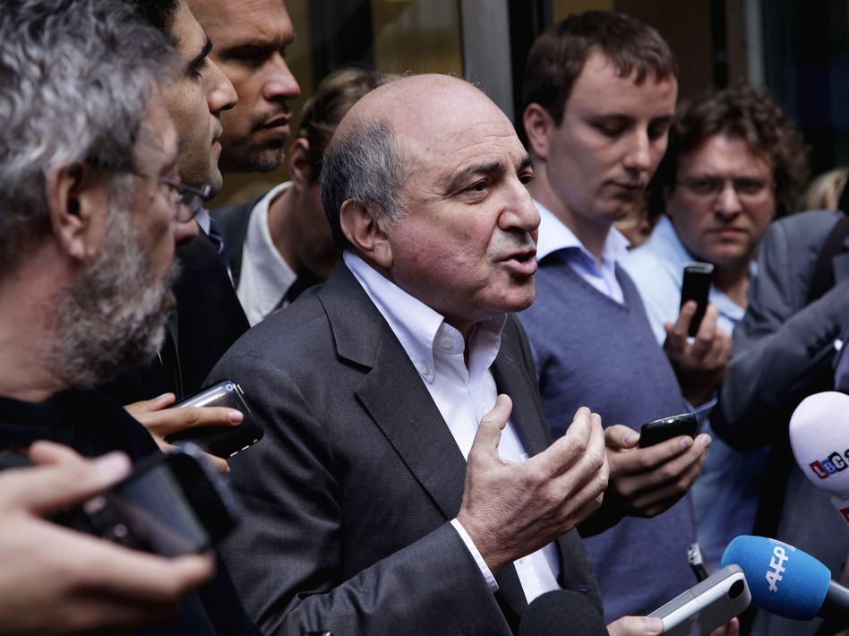 Boris Berezovsky outside a London court in August.