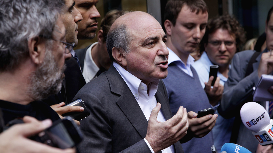 Boris Berezovsky outside a London court in August. (Getty Images)