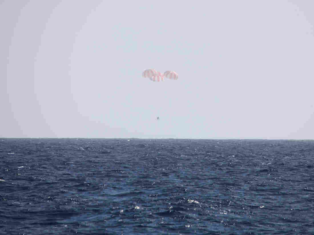 Splashdown of SpaceX Dragon on Tuesday.
