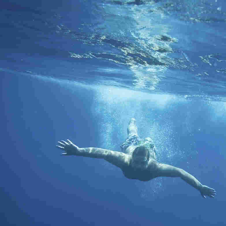 Image of a man swimming