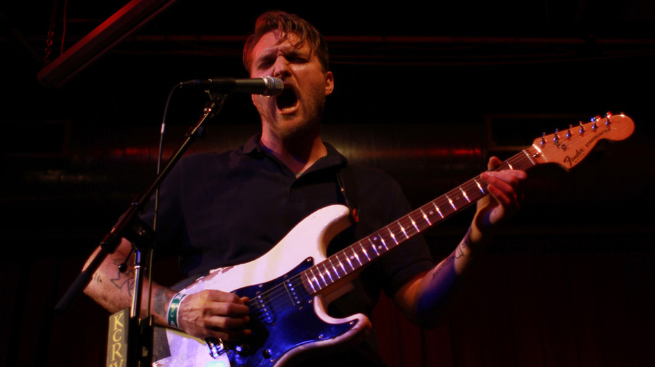 Cold War Kids' Nathan Willett performs at Apogee's Berkeley Street Studio for a crowd of KCRW supporters. (KCRW)