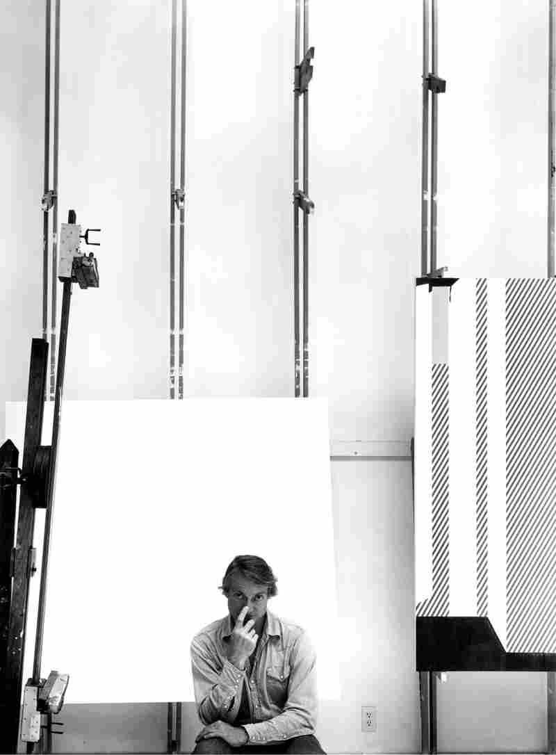 Roy Lichtenstein, American pop artist, South Hampton, N.Y., 1976