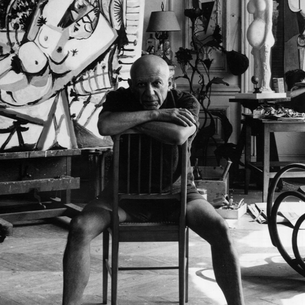 Pablo Picasso, Cannes, France, 1956 in Cannes, France