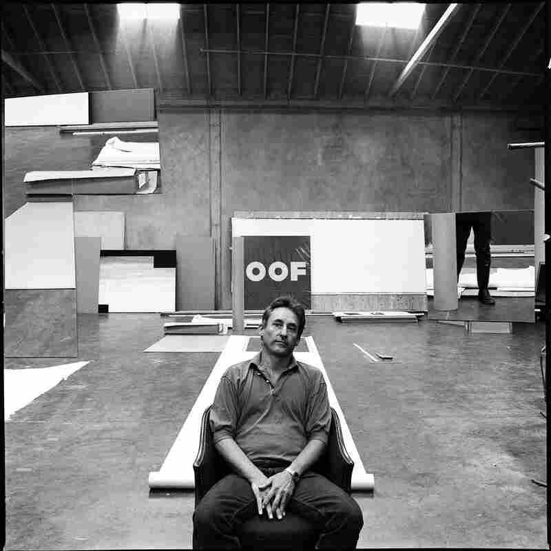 Artist Ed Ruscha in his studio, Los Angeles, 1985