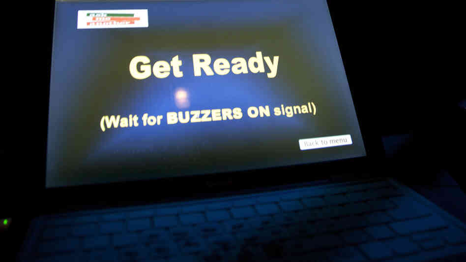 Buzzers in hand? Get ready to play.