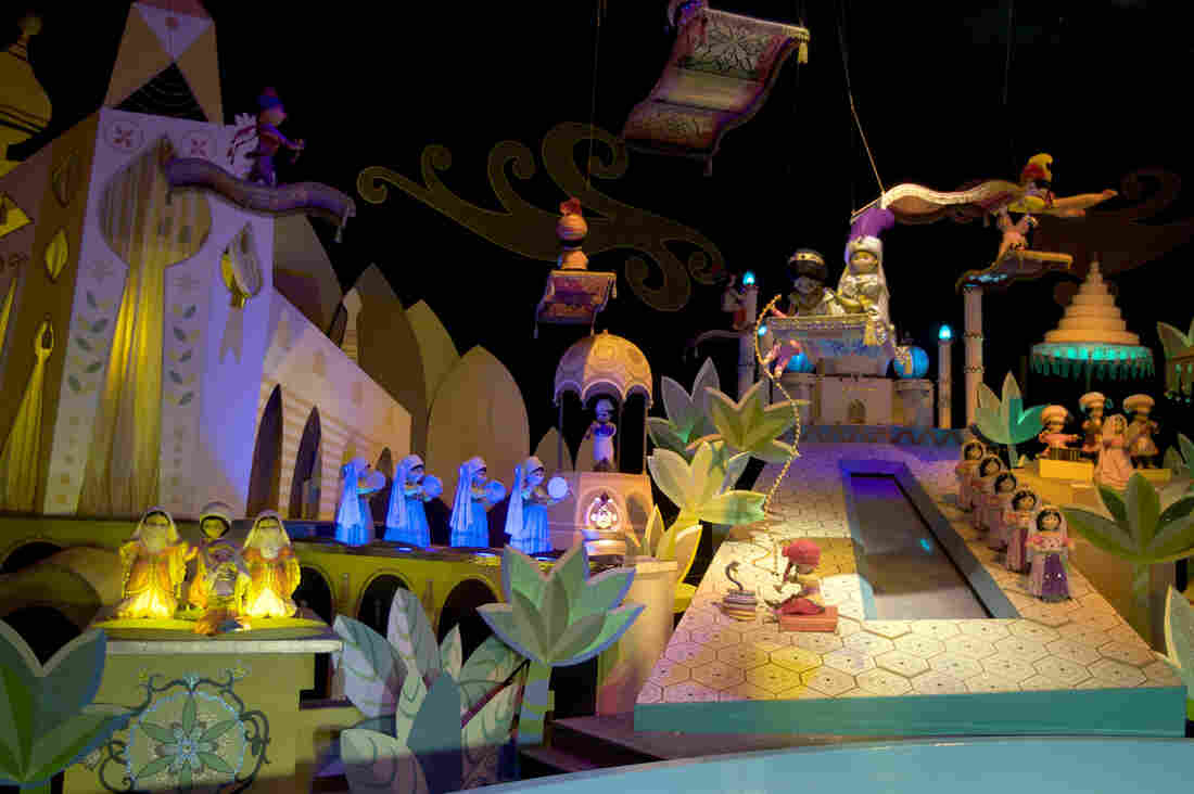 """A scene from the """"It's A Small World"""" ride, seen at Disneyland in Anaheim, Calif."""
