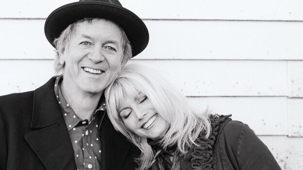 Emmylou Harris and Rodney Crowell have been friends and collaborators since the 1970s. Their new album together is called Old Yellow Moon. (Nonesuch Records)
