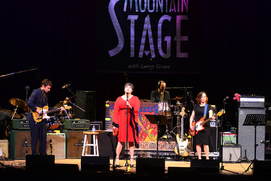 Kelly Hogan performing live at Mountain Stage. (Mountain Stage)