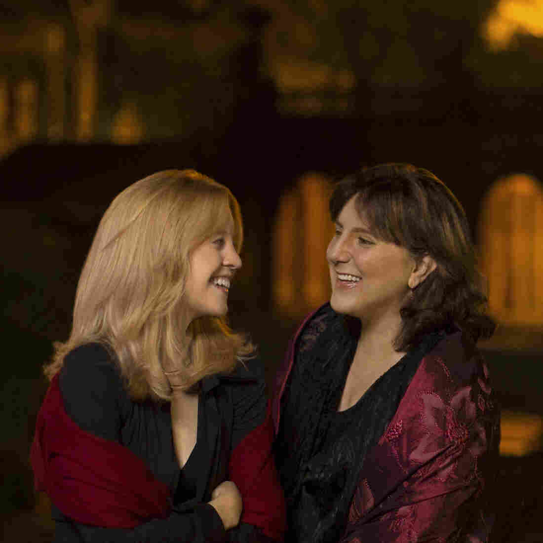Jazz composer Maria Schneider (left) and soprano Dawn Upshaw collaborated on the new album Winter Morning Walks.