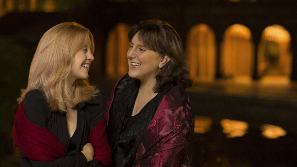 Jazz composer Maria Schneider (left) and soprano Dawn Upshaw collaborated on the new album Winter Morning Walks. (Courtesy of the artist)