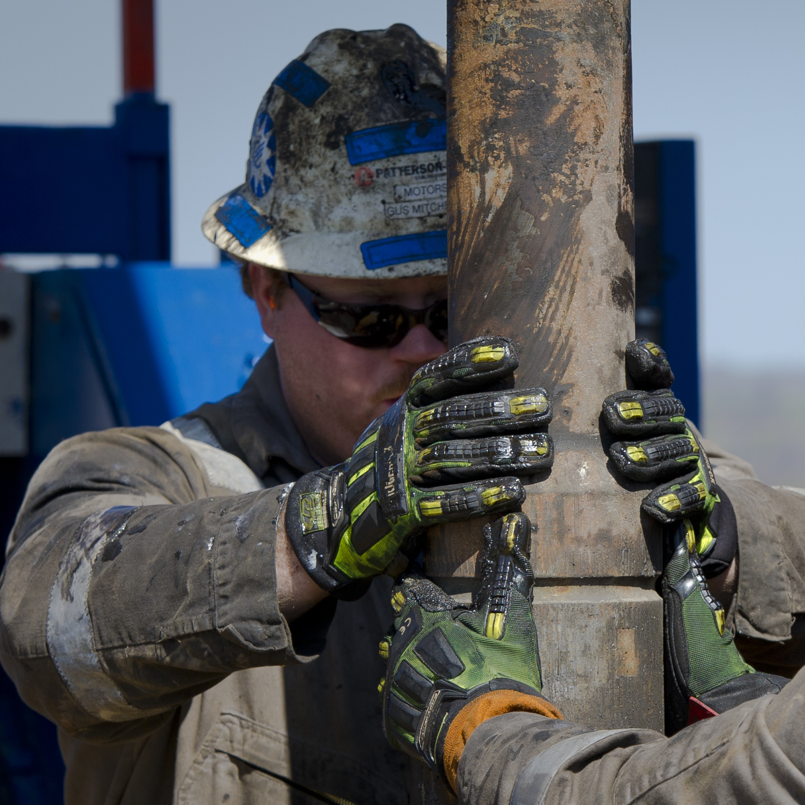 "Workers change pipes at Consol Energy Horizontal Gas Drilling Rig exploring the Marcellus Shale outside the town of Waynesburg, Pa., on April 13, 2012. Many economists say Americans are witnessing a ""manufacturing renaissance,"" thanks to cheap, abundant and reliable natural gas."