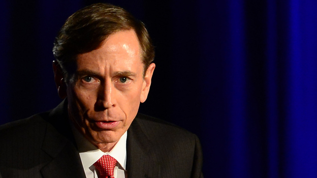 Former CIA director and retired Gen. David Petraeus during his address Tuesday at the University of Southern California. (AFP/Getty Images)