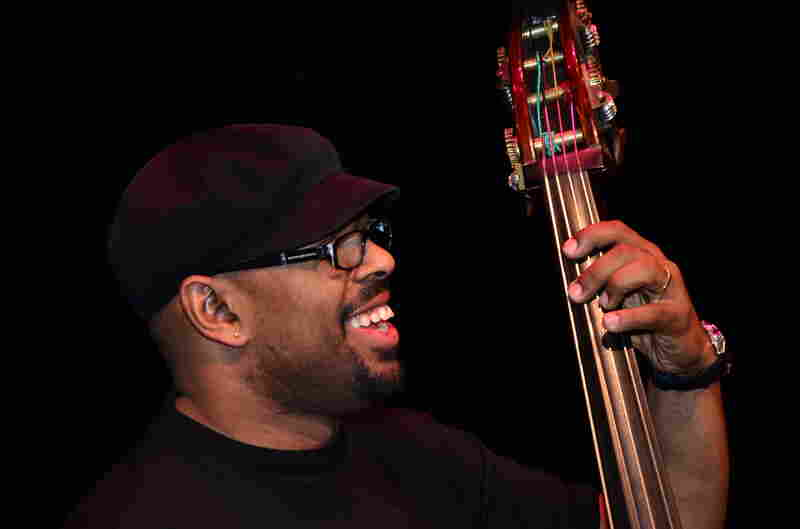 Bassist Christian McBride is the artistic director of the Monterey Jazz Festival on Tour. Here he is in a rehearsal for the Kennedy Center gig.