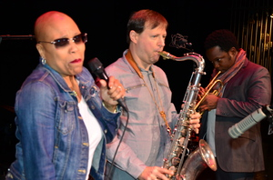 Dee Dee Bridgewater (left) first performed at the Monterey Jazz Festival in 1973.
