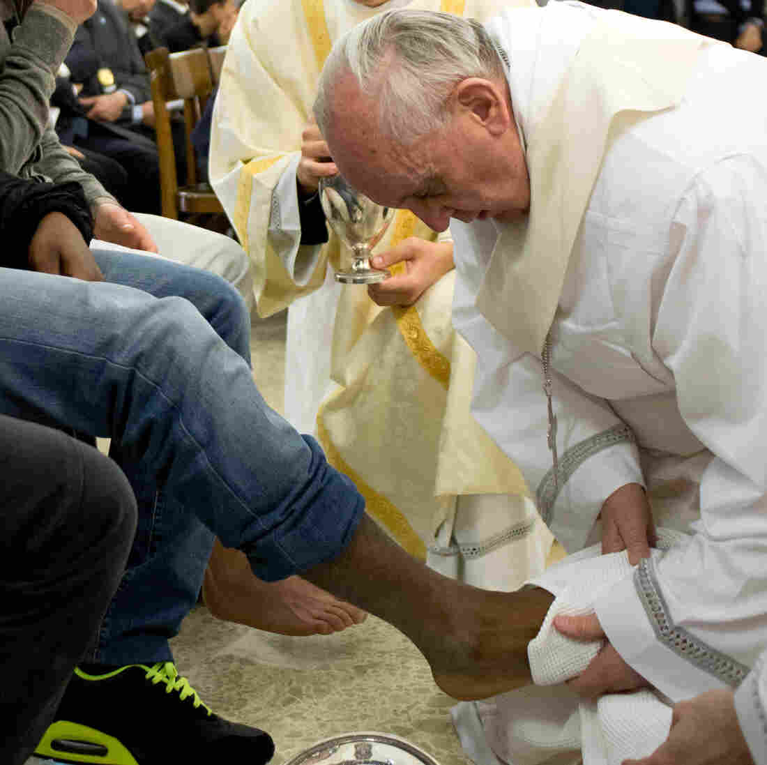 In Ritual, Pope Francis Washes The Feet Of Young Inmates, Women