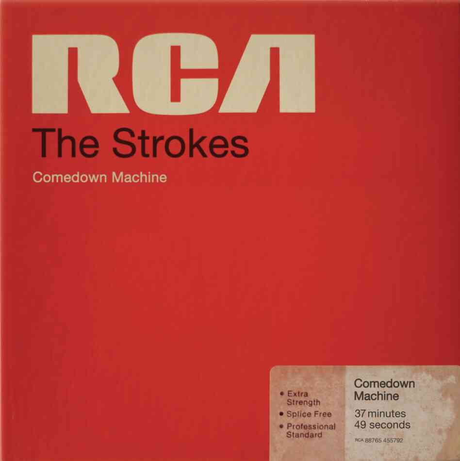 The Strokes, Comedown MachineThe Strokes are obsessed with the sounds and images of the 1970s and '80s, so it makes sense that the band's new album would look like a box of magnetic tape manufactured by RCA (conveniently, the band's label).