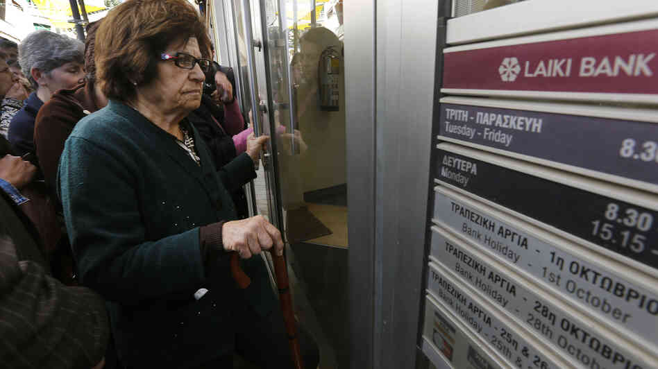 At a Laiki Bank branch in Nicosia, Cyprus, early Thursday, customers lined up to be among the first allowed in.