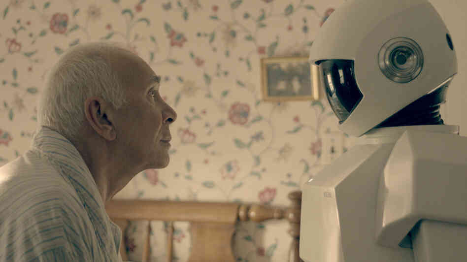 In Robot & Frank, a robot cares for an aging ex-burglar who has dementia. Frank Langella, who plays the burglar, says