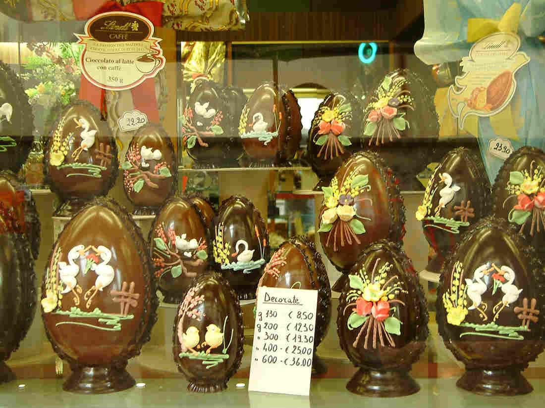 In Italy, elaborate chocolate Easter eggs are considered the food gift of choice this time of year.