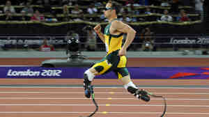 South Africa's Oscar Pistorius competing during the London 2012 Paralympic Games.