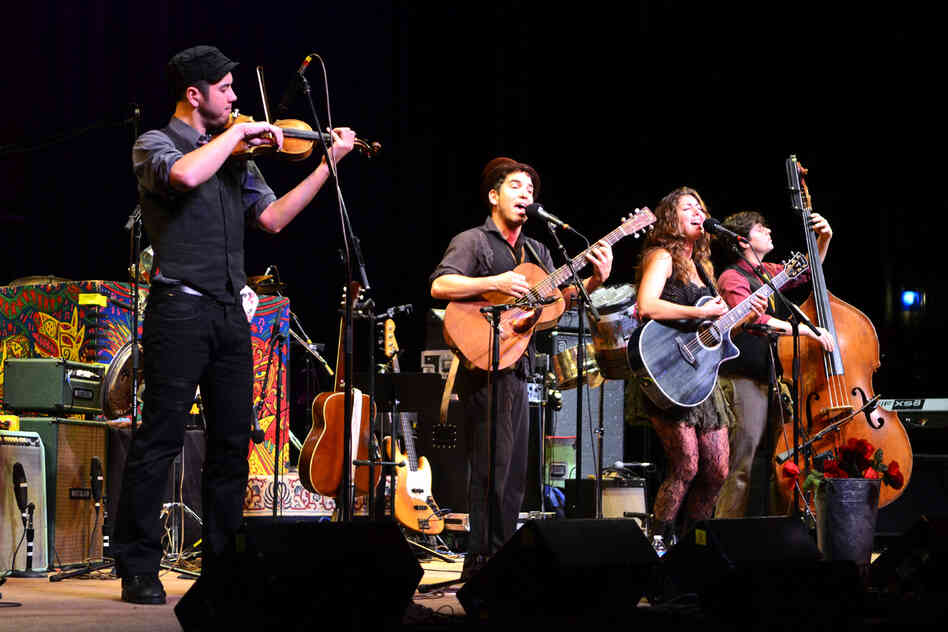 Caravan of Thieves performing live at Mountain Stage.
