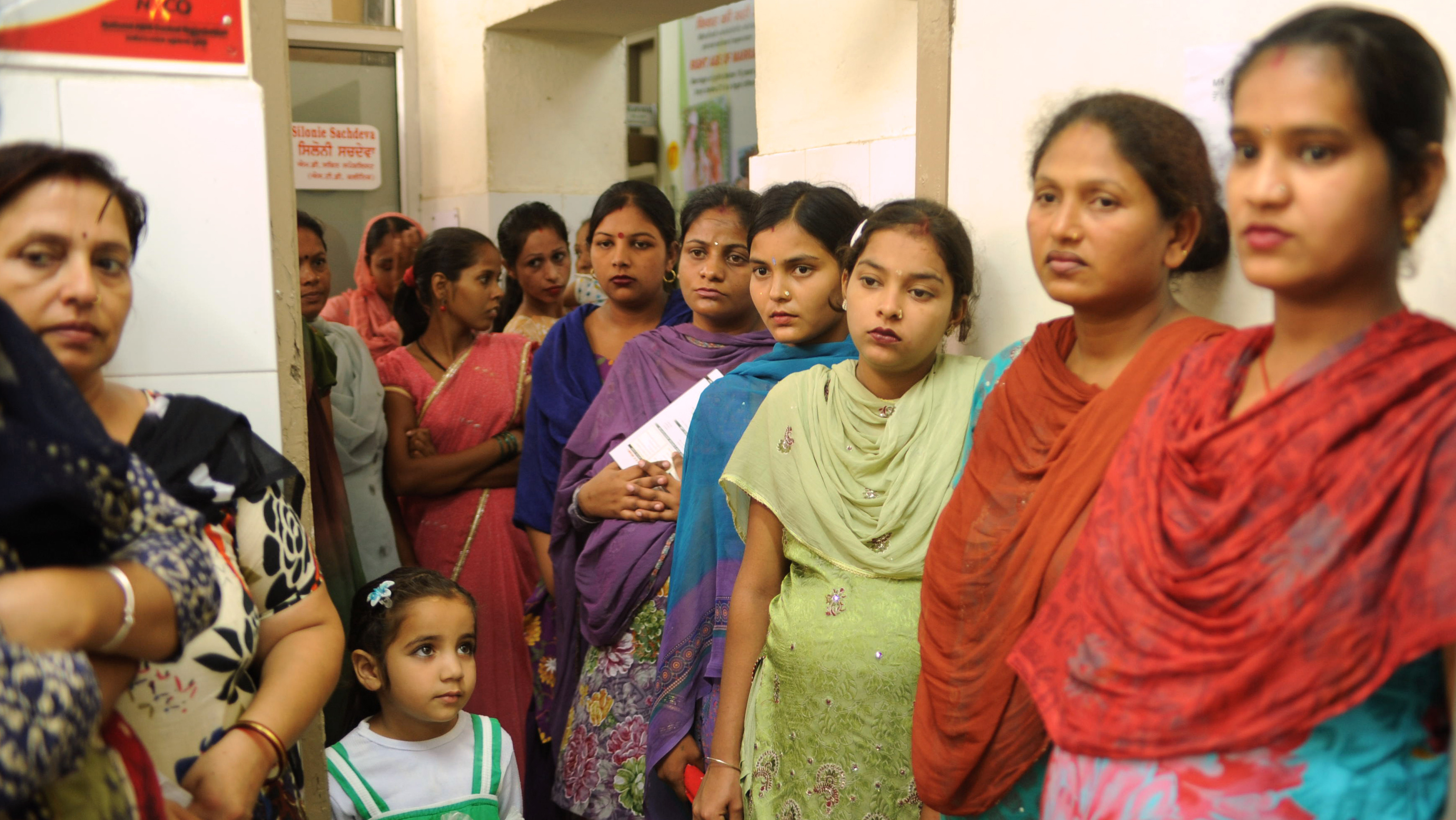 Expecting mothers wait for exams at a hospital in Punjab, India. This region had an abysmal sex ratio a decade ago, but has recently had a turnaround, with 949 girls born for every 1,000 boys.