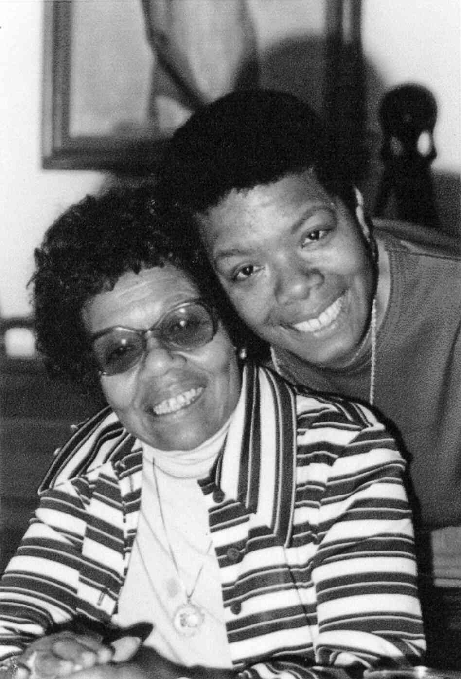 Maya Angelou and her mother, Vivian Baxter. Although it took years, Angelou and her mother eventually developed a close and loving relationship.