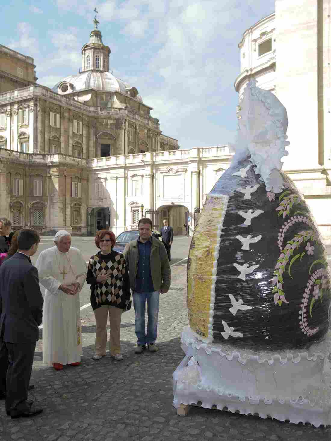 In 2012, an Italian chocolatier presented Benedict XVI, now pope emeritus, with a 6.5-foot-tall chocolate Easter egg weighing some 550 pounds.
