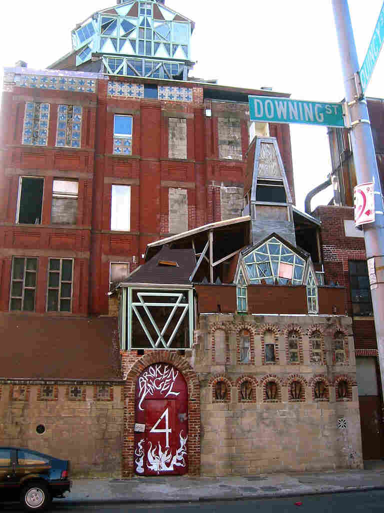 The building, which was featured in the film Dave Chappelle's Block Party, once towered nine stories over the street. Arthur took out most of the floors, creating a soaring open space with stained glass windows.