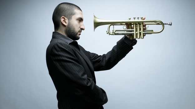 Classically trained Lebanese trumpeter Ibrahim Maalouf plays a four-valved trumpet, an innovation he credits to his famous father. (Courtesy of the artist)