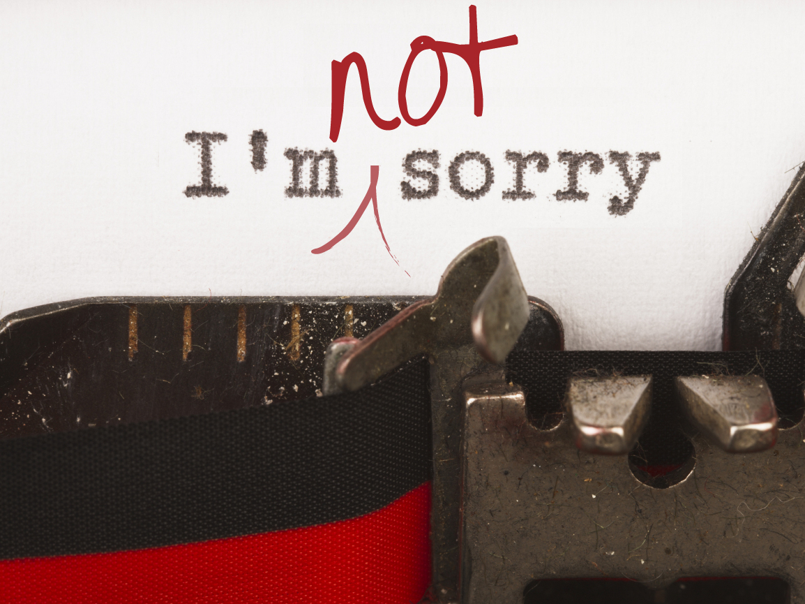 Why Not Apologizing Makes You Feel Better