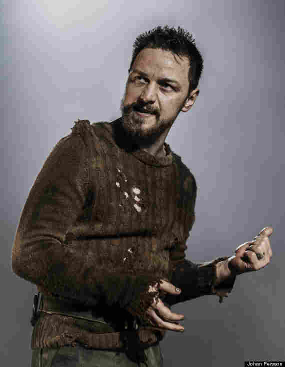 McAvoy as the titular Scottish King in a West End Production of Shakespeare's tragedy, Macbeth. The production is nominated for two Olivier Awards, including one for McAvoy's performance.