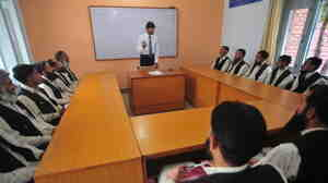 Pakistani men who worked for the Taliban attend a class at Mishal, an army-run rehabilitation center in Pakistan's Swat Valley, on July 5, 2011. This and similar centers are trying to re-educate men taken in by the Taliban, who ruled Swat before the military drove out the insurgents in 2009.