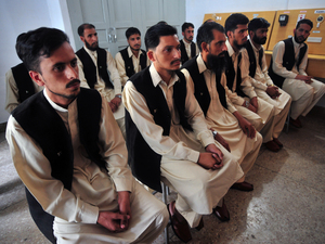 Classes such as this one at the Mishal center in Swat on July 5, 2011, teach former jihadis skills that will help them return to their families and be productive members of society.