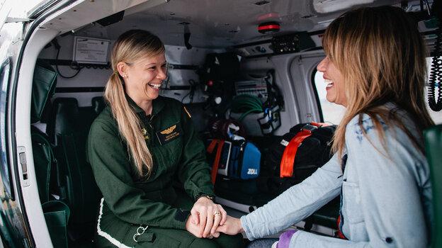 When Melissa McCann (left) suffered a stroke in 2007