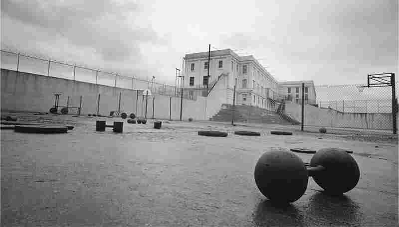 Not everything made it out of Alcatraz, including recreation yard equipment.