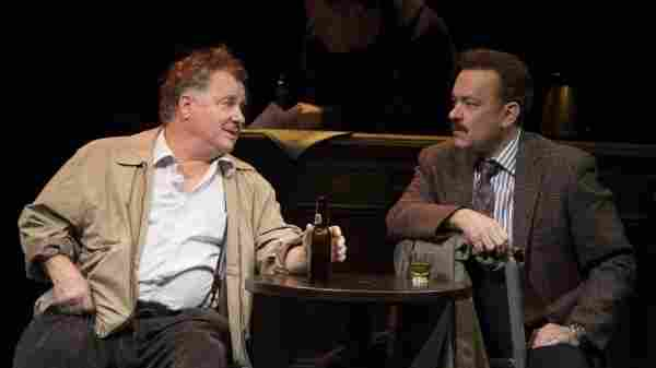 Nora Ephron's final play, Lucky Guy, tells the story of controversial New York columnist Mike McAlary, played by Tom Hanks. (Also pictured: Peter Gerety as John Cotter).