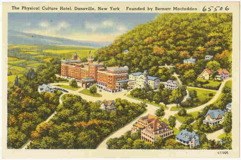 Macfadden leveraged his wealth into multiple properties, including the Jackson Sanitarium in Dansville, N.Y. Refurbished as the Physical Culture Hotel, it was a luxury resort that lasted until 1971.