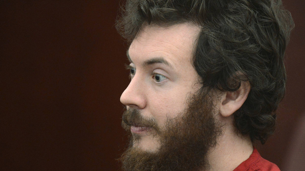 Accused Aurora theater gunman James Holmes during a court hearing last month in Centennial, Colo. (Reuters /Landov)